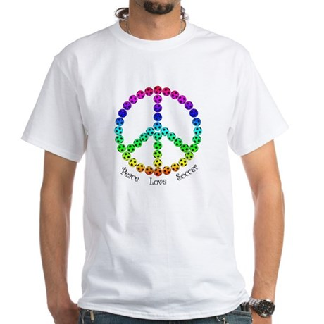 Peace.Love.Soccer White T-Shirt