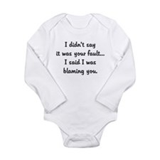 not your fault blaming you Body Suit