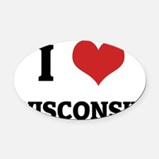 Wisconsin Oval Car Magnet
