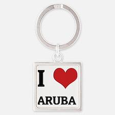 ARUBA Square Keychain