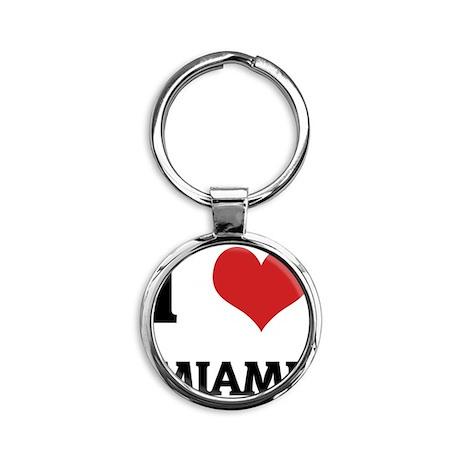 MIAMI Round Keychain