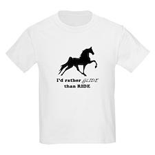 I'd Rather Glide Kids T-Shirt