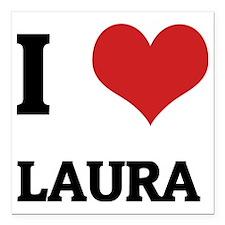 """LAURA Square Car Magnet 3"""" x 3"""""""