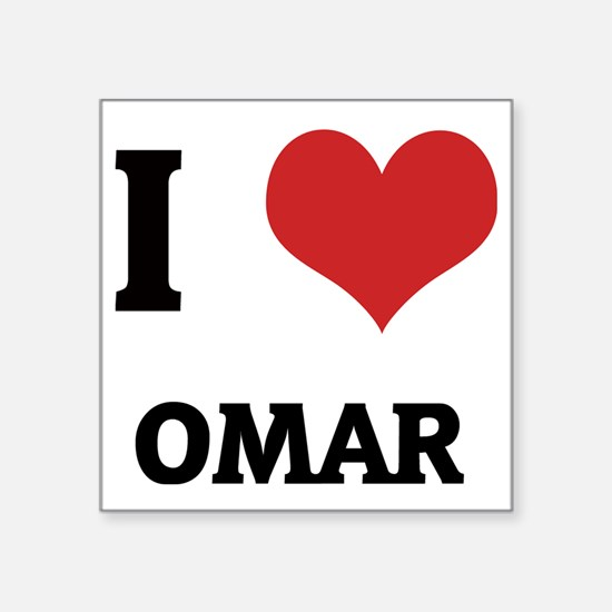 "OMAR Square Sticker 3"" x 3"""