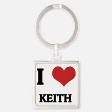 KEITH Square Keychain
