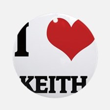 KEITH Round Ornament