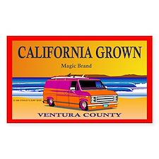 CALIFORNIA GROWN Rectangle Decal