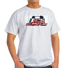 U.S.A POWERLIFTING Ash Grey T-Shirt