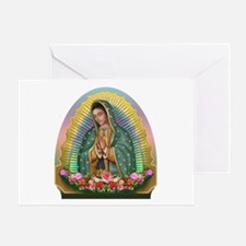 Guadalupe Yellow Aura Greeting Card
