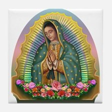 Guadalupe Yellow Aura Tile Coaster