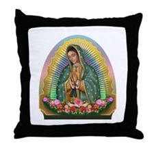 Guadalupe Yellow Aura Throw Pillow