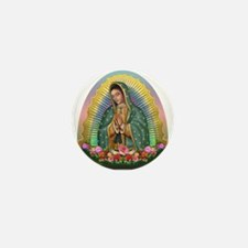 Guadalupe Yellow Aura Mini Button