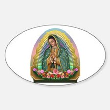 Guadalupe Yellow Aura Sticker (Oval)