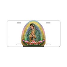 Guadalupe Yellow Aura Aluminum License Plate