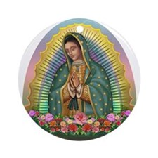Guadalupe Yellow Aura Ornament (Round)
