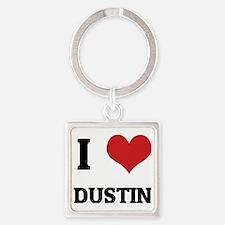 DUSTIN Square Keychain
