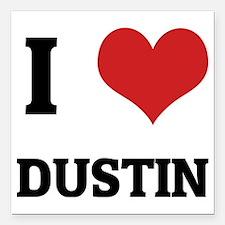 "DUSTIN Square Car Magnet 3"" x 3"""
