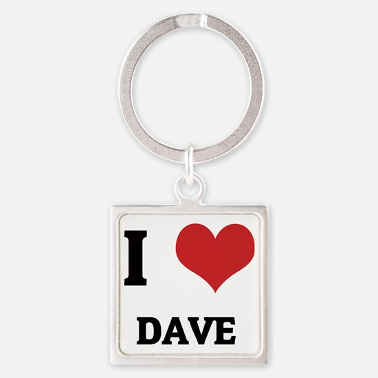 DAVE Square Keychain