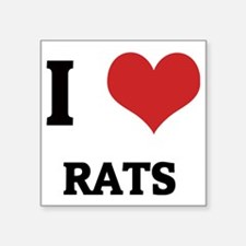 "RATS Square Sticker 3"" x 3"""