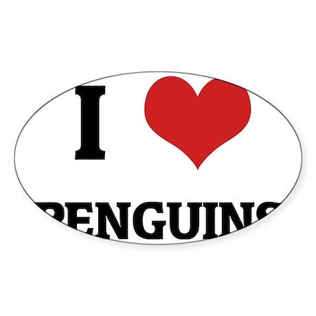 PENGUINS1 Sticker (Oval)