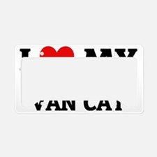 TURKISH VAN CAT License Plate Holder