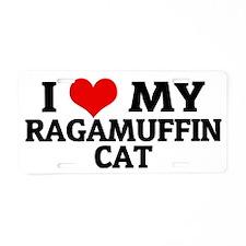 RAGAMUFFIN CAT Aluminum License Plate