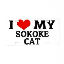 SOKOKE CAT Aluminum License Plate