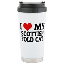 SCOTTISH FOLD CAT Travel Mug
