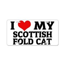 SCOTTISH FOLD CAT Aluminum License Plate