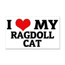 RAGDOLL CAT Rectangle Car Magnet