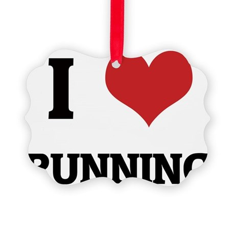 RUNNING Picture Ornament