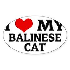 BALINESE CAT Decal