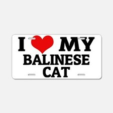 BALINESE CAT Aluminum License Plate