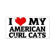 AMERICAN CURL CATS Aluminum License Plate