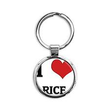 RICE Round Keychain