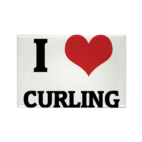 CURLING Rectangle Magnet