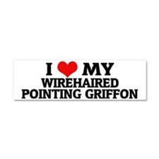 WIREHAIRED POINTING GRIFFON Car Magnet 10 x 3