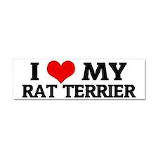 RAT TERRIER Car Magnet 10 x 3