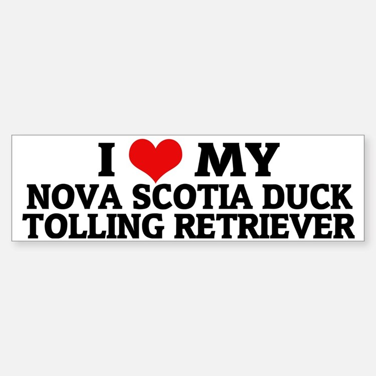 NOVA SCOTIA DUCK TOLLING RETRIEVE Bumper Bumper Sticker