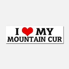 MOUNTAIN CUR Car Magnet 10 x 3
