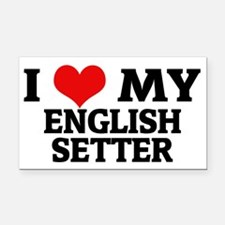 ENGLISH SETTER Rectangle Car Magnet