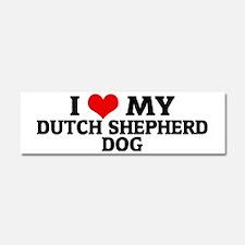DUTCH SHEPHERD DOG Car Magnet 10 x 3