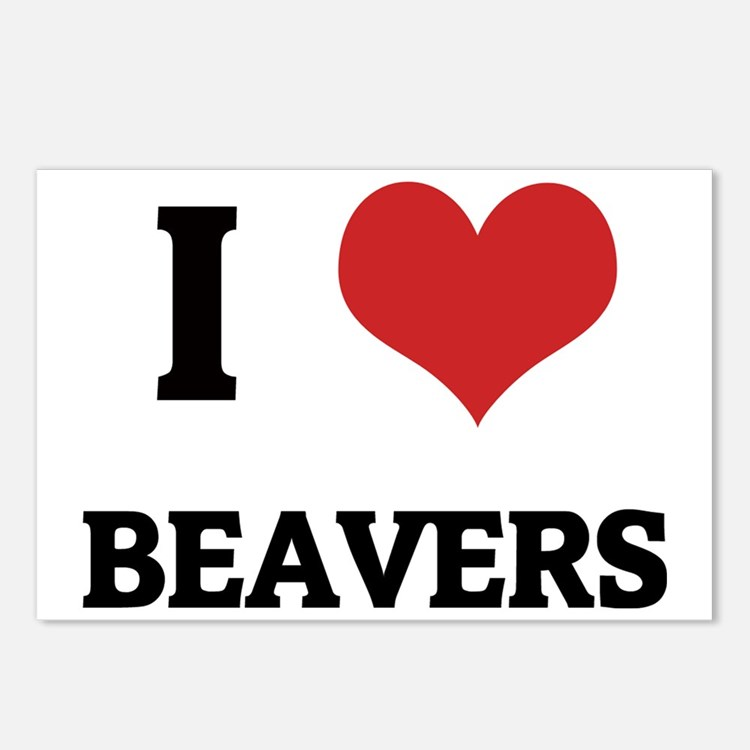BEAVERS Postcards (Package of 8)