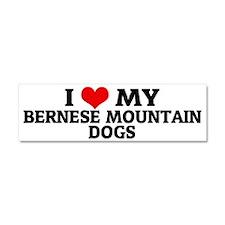 BERNESE MOUNTAIN DOGS Car Magnet 10 x 3