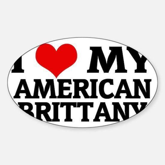 AMERICAN BRITTANY Sticker (Oval)