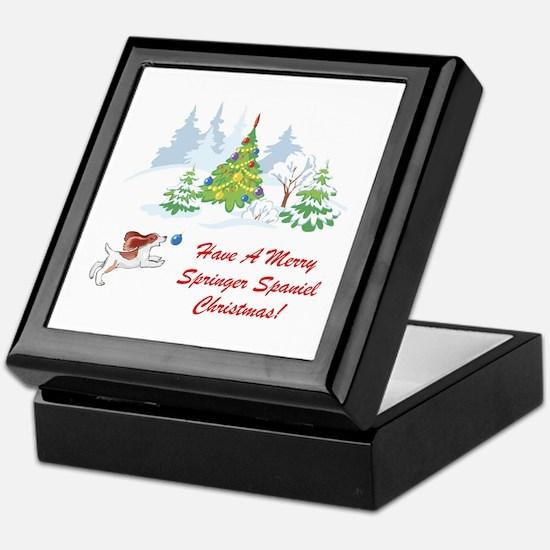 Christmas Springer Spaniel Keepsake Box