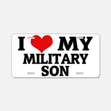 MY MILITARY SON Aluminum License Plate