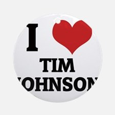 TIM JOHNSON Round Ornament