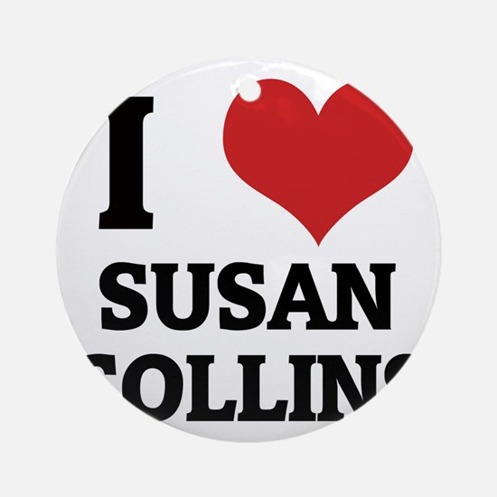 SUSAN COLLINS Round Ornament