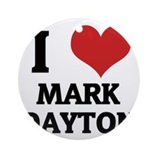 MARK DAYTON Round Ornament